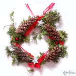 diy natural winter wreath pinecones