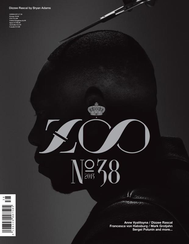 Dizee Rascal photographed by Bryan Adams for Zoo Magazine