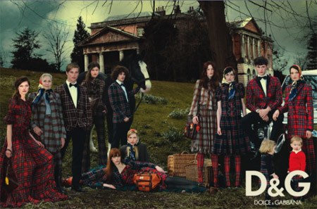 Dolce and Gabbana Fall Winter 2008 2009 Ad Campaign