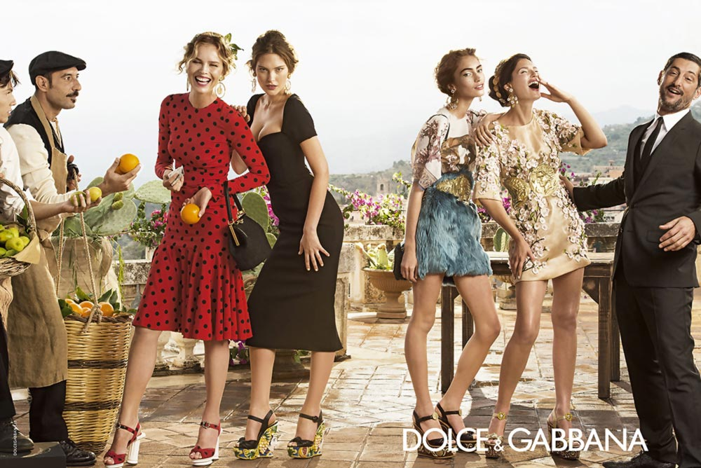 dolce gabbana spring summer 2014 campaign celebrates family fun stylefrizz. Black Bedroom Furniture Sets. Home Design Ideas
