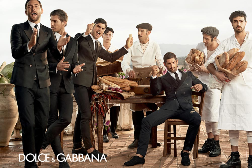 Dolce Gabbana suits Spring Summer 2014 men ad campaign