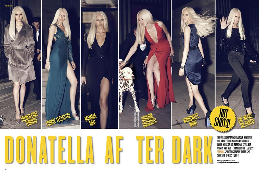 Donatella After Dark In V Magazine July August 2009