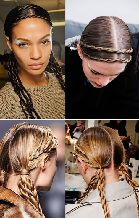 double halo braid Fendi catwalk