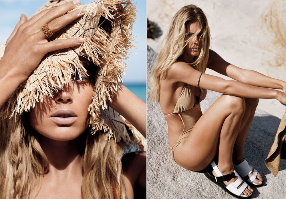 Doutzen Kroes beach pictorial Vogue UK
