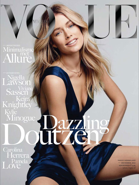 Doutzen Kroes' Strange Smile In Vogue Netherland December 2012
