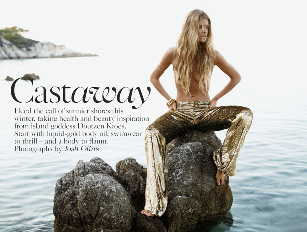 Doutzen Kroes Vogue UK Castaway pictorial