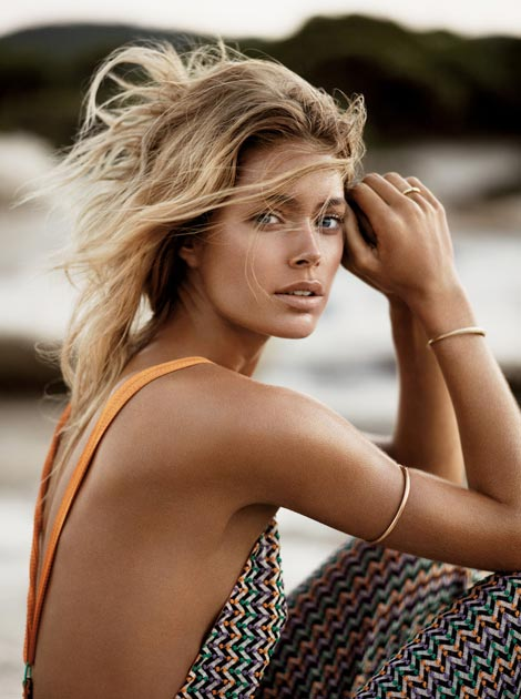 Castaway Doutzen Kroes, Vogue UK January 2013