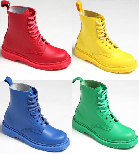 Dr. Martens Colored Boots Primary Pascal 8 Eye Boot