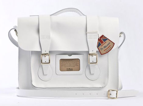 Dr Martens white leather bag