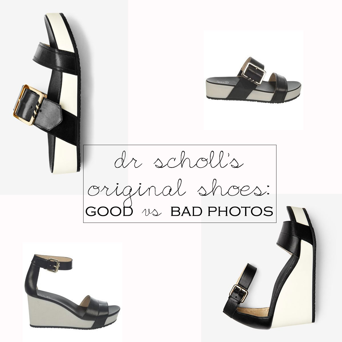 dr scholl s shoes good vs bad product photography