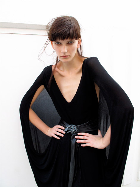 Dare To Wear A Dramatic Black Dress!