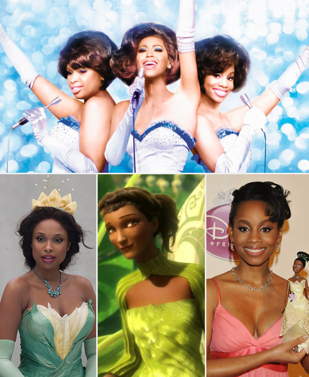 Dreamgirls Jennifer Beyonce Anika as black Princesses