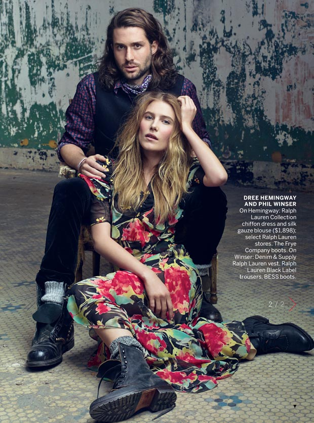Dree Hemingway and boyfriend Phil Winser in Vogue