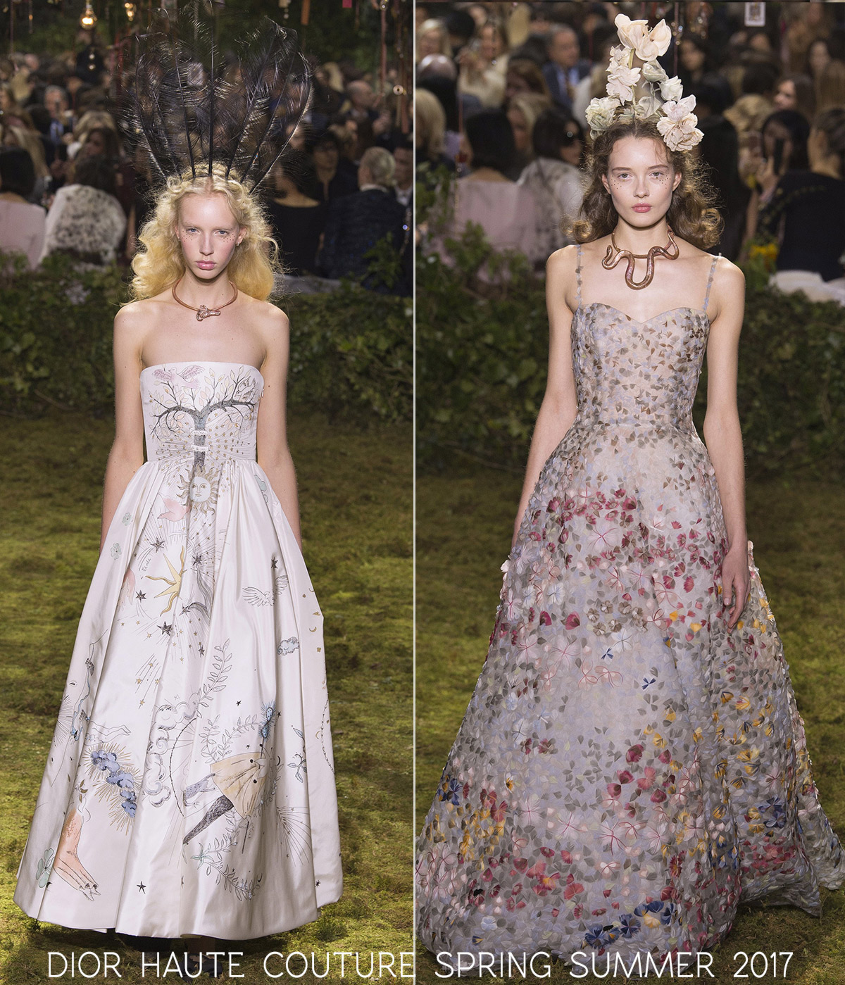dresses haute couture Dior spring summer 2017