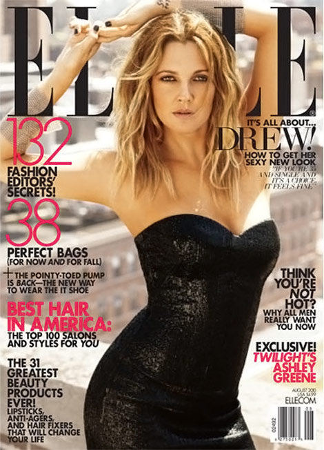Drew Barrymore's Elle August 2010