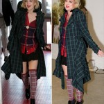 Drew Barrymore Tartan Outfit