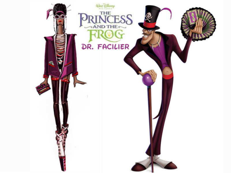 Dr Facilier fashion update the Princess and the Frog Disney Villains