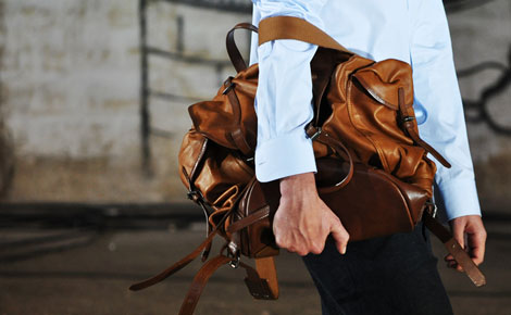 Dries Van Noten men bag tan