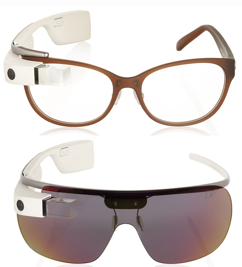 DVF Google Glass brown