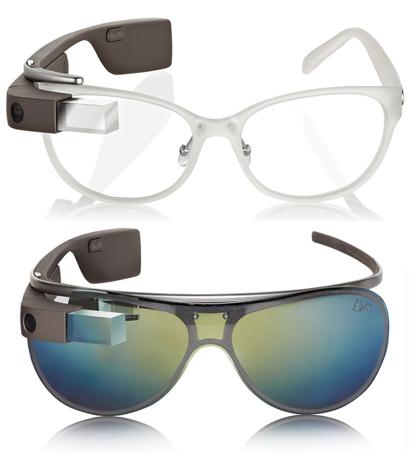 DVF Google Glass transparent