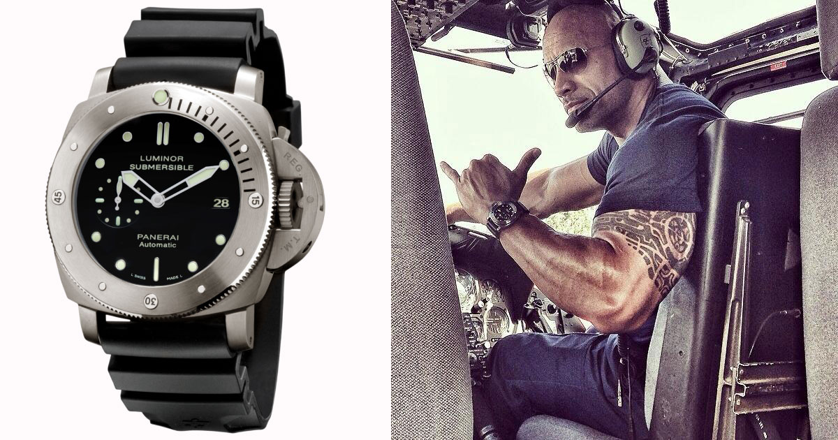 Dwayne the Rock Johnson Panerai watch San Andreas movie