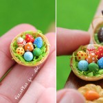 Easter fimo decorations miniature Petitplat creations