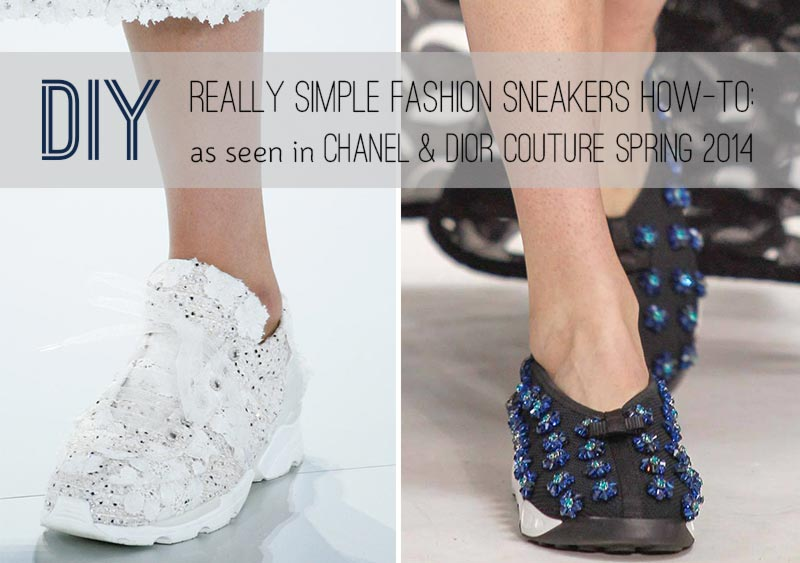 Easy DIY Chanel, Dior Couture Sneakers For Less!