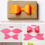 easy DIY paper bow tutorial