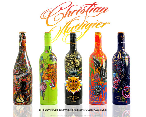 Ed Hardy Audigier wine bottles