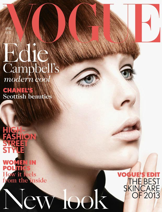 Edie Campbell, The New Twiggy Doing Vogue UK April 2013