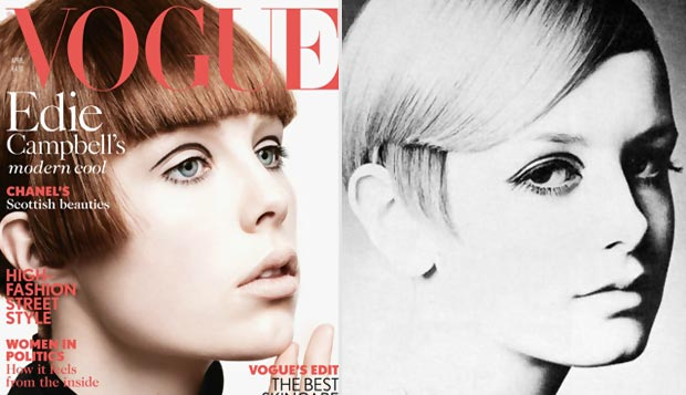 Edie Campbell the new Twiggy Vogue UK April 2013