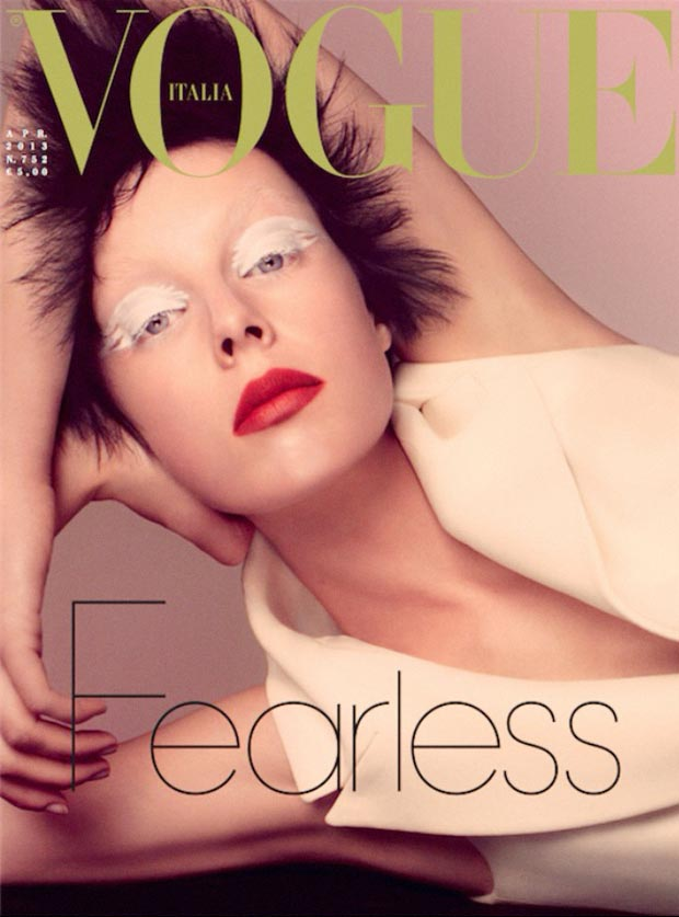 Edie Campbell Is White Mischief In Fearless Vogue Italia April 2013 Issue