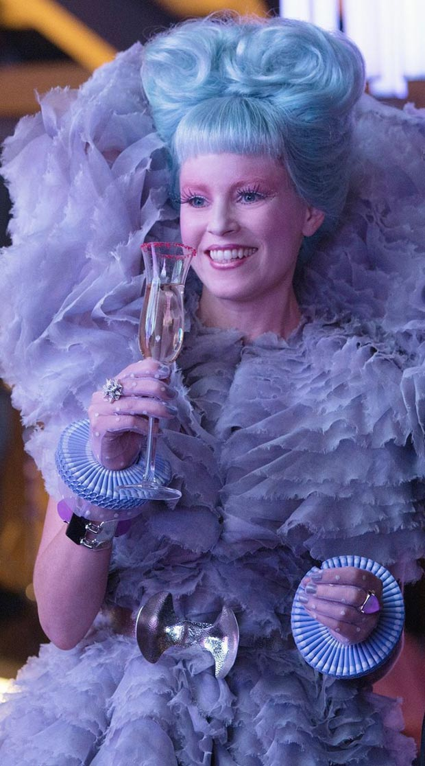 Effie Trinket Hunger Games dress Alexander McQueen