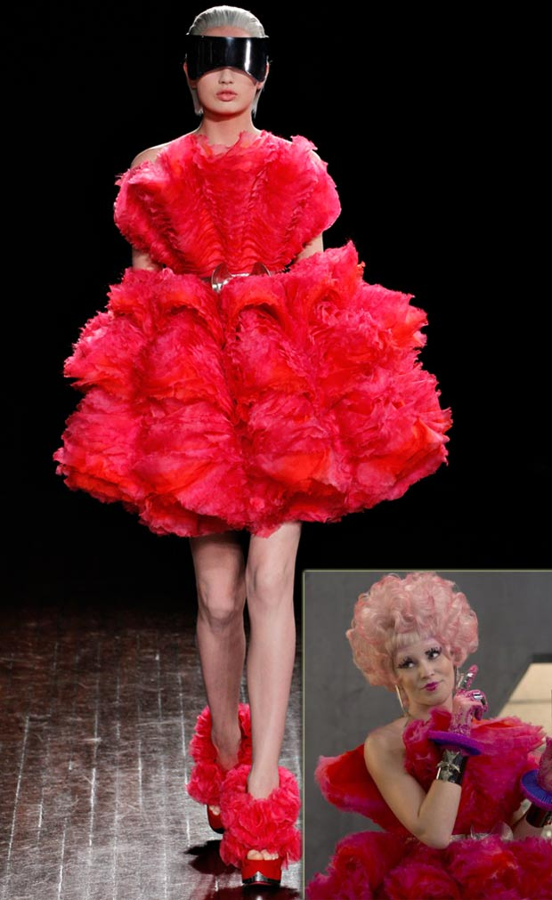 Effie Trinket Hunger Games pink McQueen dress