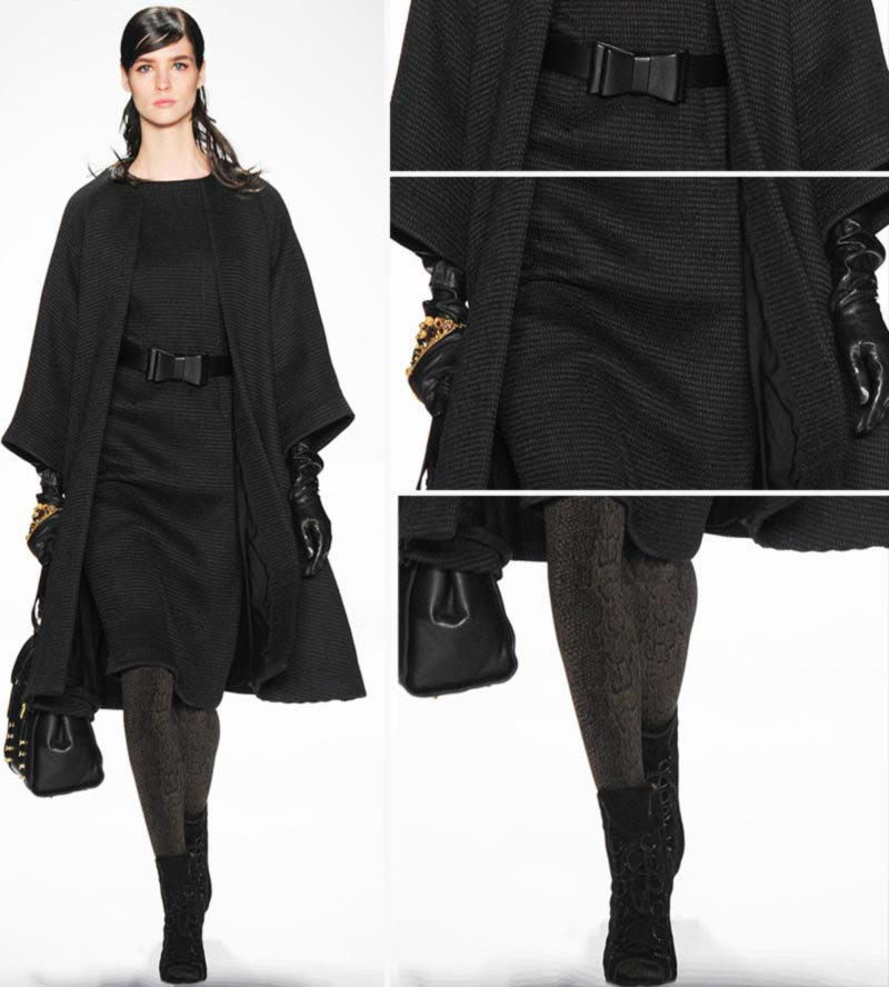 elegant all black elegant outfit Badgley Mischka Fall 2014