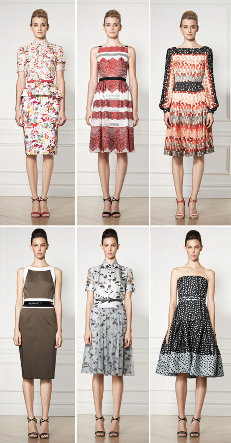 elegant fun dresses Carolina Herrera Resort 2013 Collection
