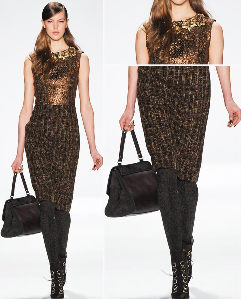 elegant pencil skirt dress Badgley Mischka Fall 2014