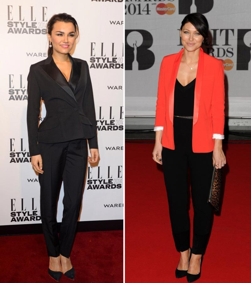 elegant suits Red Carpet Elle Style Awards Brit Awards