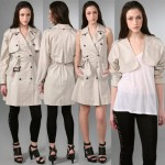 Elizabeth and James Convertible Trench coat parchment