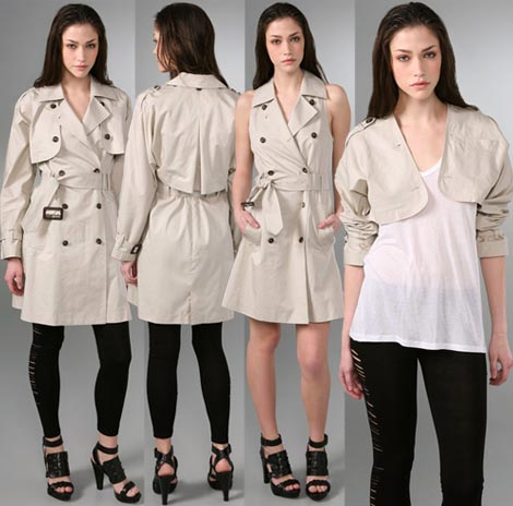 Dare To Wear Elizabeth And James Convertible Trench Coat?