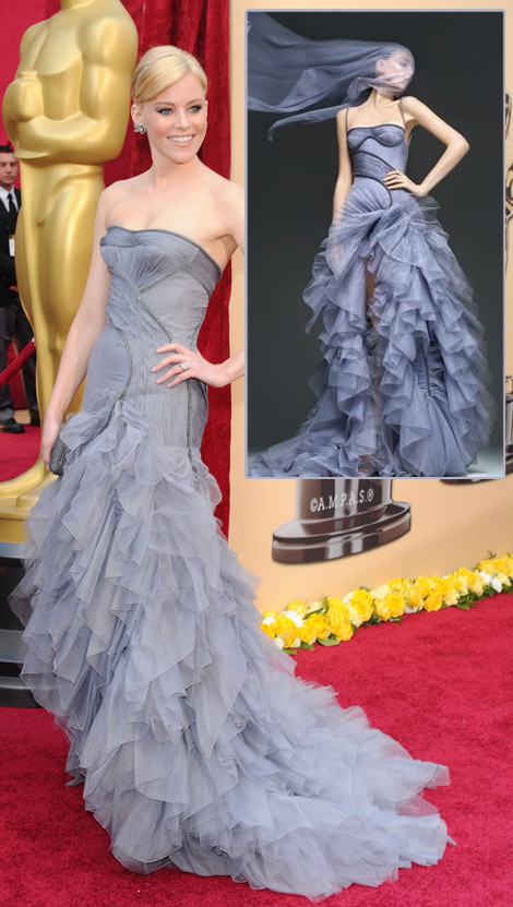 Elizabeth Banks Atelier Versace dress 2010 Oscars