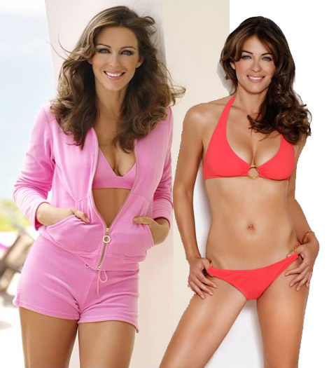 Elizabeth Hurley's New Bikini Collection 2010