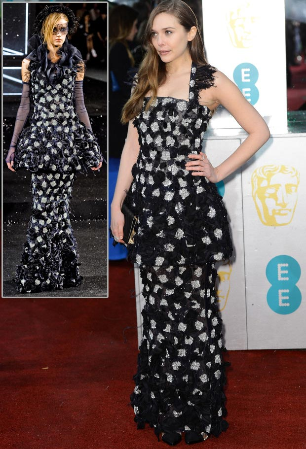Elizabeth Olsen 2013 BAFTA Chanel Couture dress