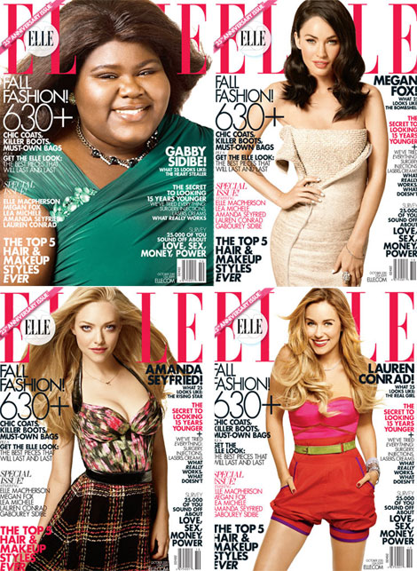 Elle 25 anniversary covers Gabby Megan Amanda Lauren