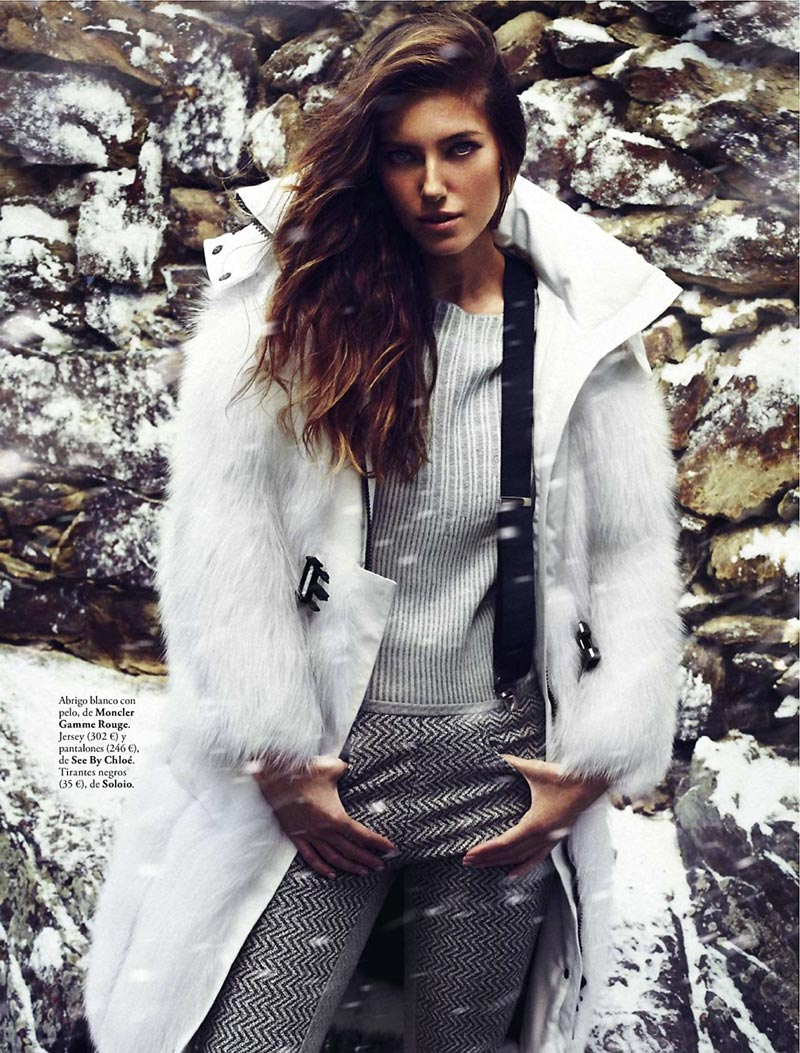 Elle Espana January 2014 winter fashion