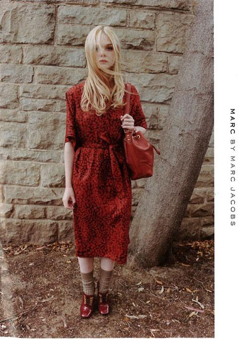 Elle Fanning Marc by Marc Jacobs Fall Winter 2011 2012 ad campaign