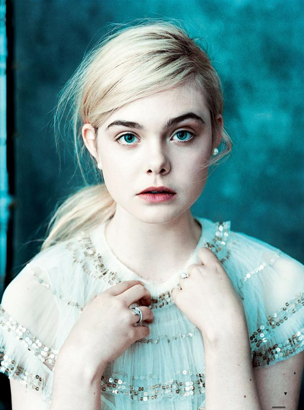Elle Fanning Vogue US March 2013 by Norman Jean Roy