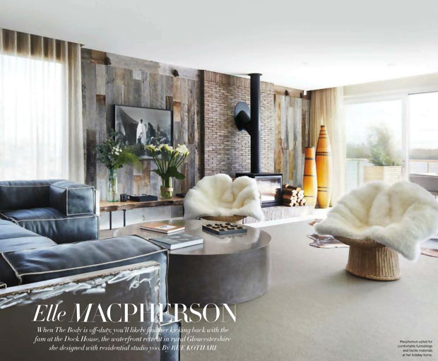 Elle MacPherson home interior in Cotswolds