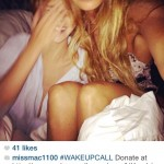 Elle Macpherson without makeup in bed wakeupcall