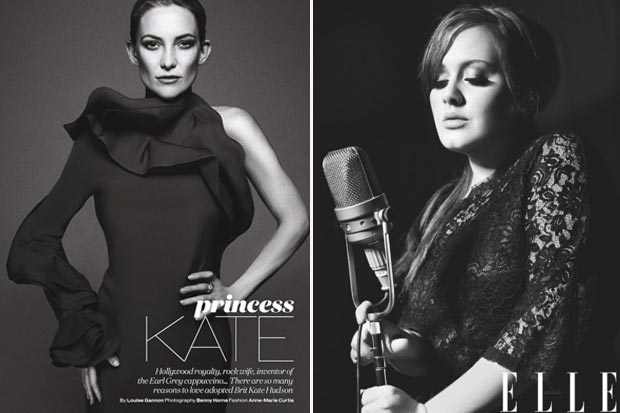 Elle UK Kate Hudson vs Elle US Adele